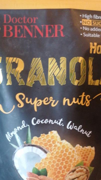 Фото - Granola Super nuts almond coconut walnut Doctor Benner