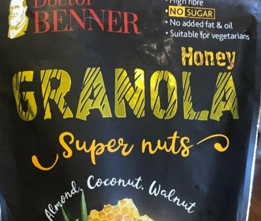Фото - Гранола Super nuts Almond Coconut Walnut Doctor Benner